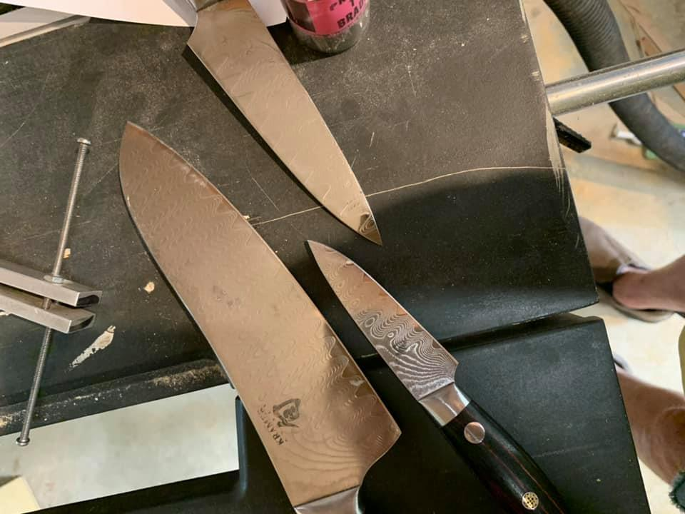 AFTER - Repaired Shun knives